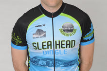 Load image into Gallery viewer, Close up of the chest of the Slea Head Bike Kerry Short Sleeve Cycling Jersey