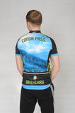 Back of the Slea Head Bike Kerry Short Sleeve Cycling Jersey with Conor Pass printed across the top