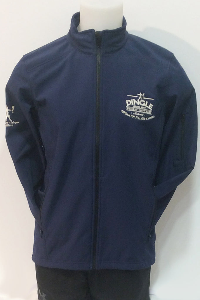 Mannequin wearing the Dingle Distillery Soft Shell Jacket, part of our leisure wear clothing collection, with full zip