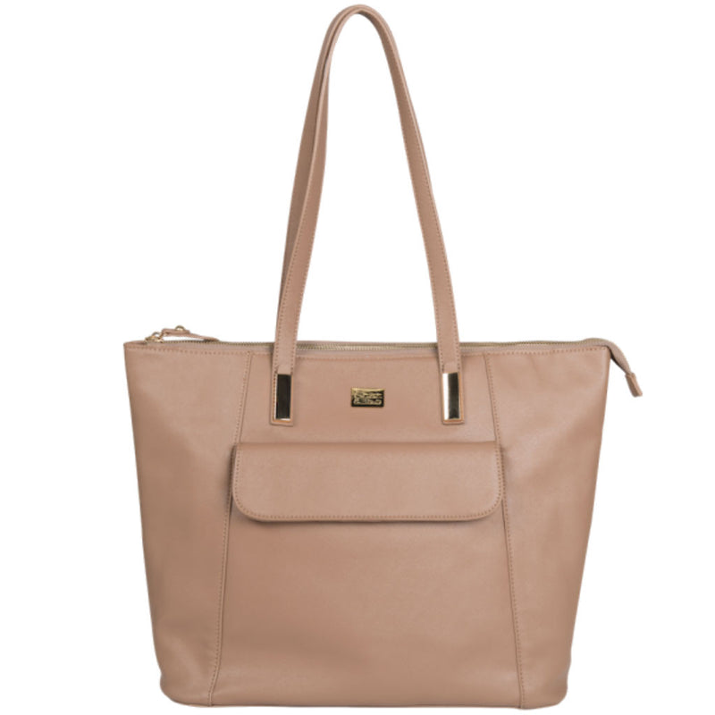 Charlie Nappy Bag/Tote - Taupe