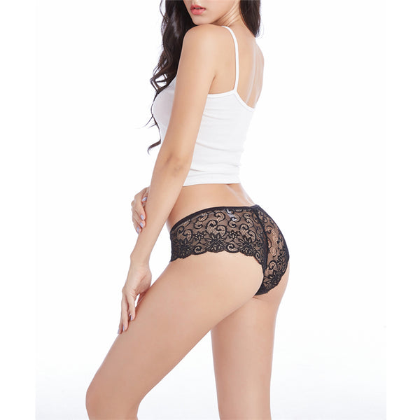 Womens Sexy Lace Underwear Briefs Panties