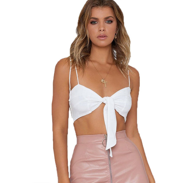 Striped Bow Tie Camisole Tank Tops For Women