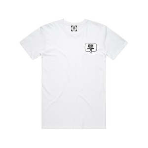 """Good luck, good day"" Tee - White"