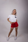 Tia Summer Cropped Tee - White