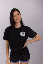 Tia Summer Cropped Tee - Black