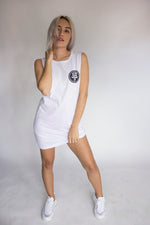 Stevie long line singlet - White