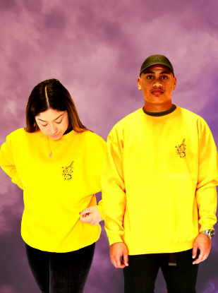 Heart breaker Crew Neck jumper - Yellow