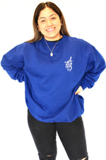 Heart breaker Crew Neck jumper - Blue