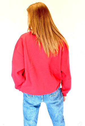 Heart breaker Crew Neck jumper - Red