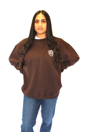 Heart breaker Crew Neck jumper - Brown