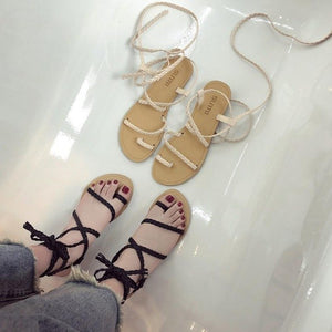 Ladies Lace Up Sandals