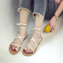 Load image into Gallery viewer, Ladies Lace Up Sandals