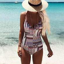 Load image into Gallery viewer, Summer One-piece Womens Slim Swimsuit