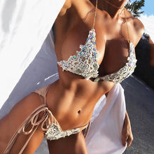 Load image into Gallery viewer, Elegant Two Piece Swim Suit