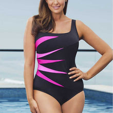 Load image into Gallery viewer, Black One Piece Suit Women Beach Swimwear