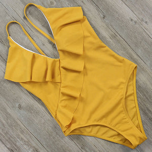 One Piece Vintage Beach Push Up Monokini