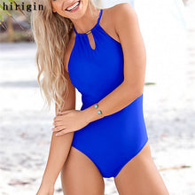 Load image into Gallery viewer, One Piece Halter Bathing Suit