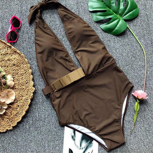One Piece Halter Sexy Monokini Summer Swim Suit