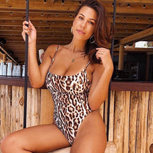 Load image into Gallery viewer, 2019 Leopard Sexy Swimsuit One Piece