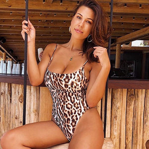 2019 Leopard Sexy Swimsuit One Piece
