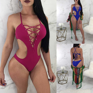 2019 One Piece Cross Push Up Bikini