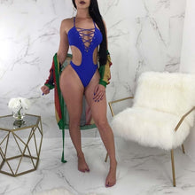 Load image into Gallery viewer, 2019 One Piece Cross Push Up Bikini