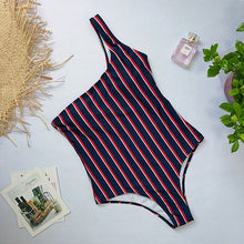 Load image into Gallery viewer, 2019 One Piece Striped Swimsuit