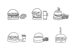 NYC All Burgers Print