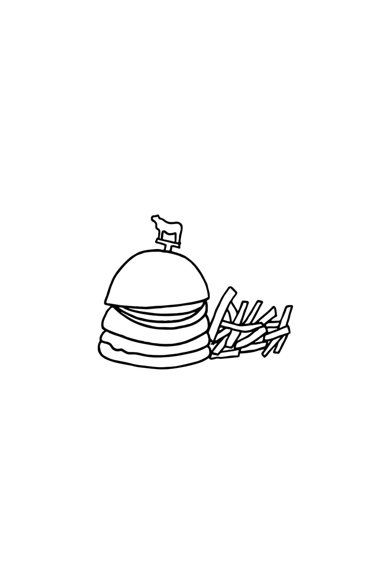 NYC Single Burger Print