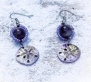 Sand dollars by the sea earrings