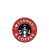Load image into Gallery viewer, Cannabis and coffee decal