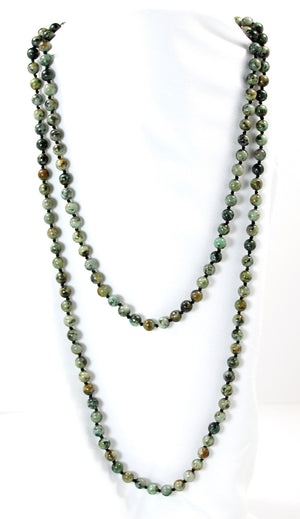 "African Turquoise 56"" Necklace - Signature Collection"