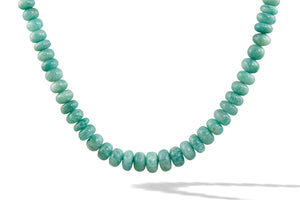 Amazonite Bead Necklace Front View