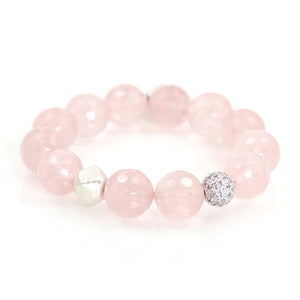 KenSu Jewelry Rose Quartz Bracelet Hand Made Jewelry