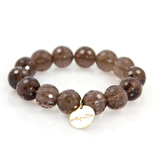 KenSu Jewelry Smokey Quartz Bracelet Hand Made Jewelry