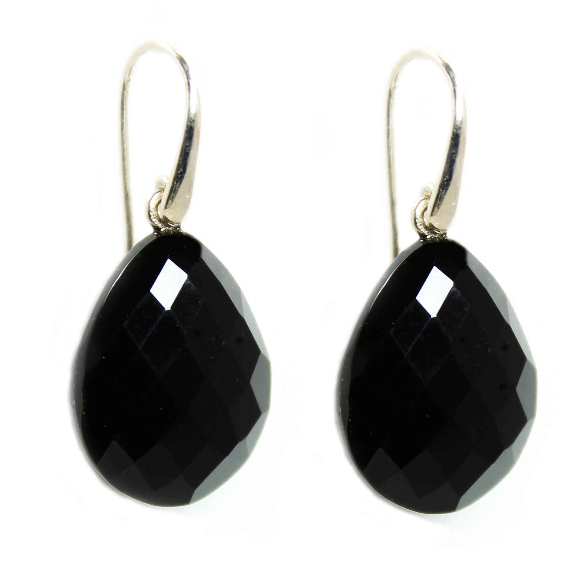 dm shape black silver pear blck cage slvr drop two earrings drp errngs di modolo cg onyx ox sterling pr