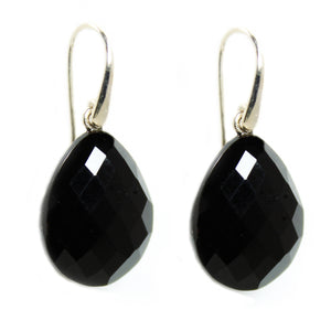 Black Onyx Drop Earrings -  Signature Collection