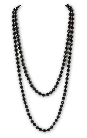 "Black Onyx Stone 56"" Necklace - Signature Collection"
