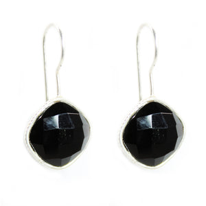 Black Onyx diamond shape Earrings - Signature Collection