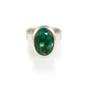 KenSuJewelry Bowl Ring Vertical Green Small Fluorite