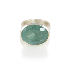 KenSuJewelry Bowl Ring with Aquamarine Horizontal