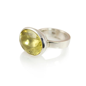 KenSuJewelry Bowl Ring with Lemon Quartz