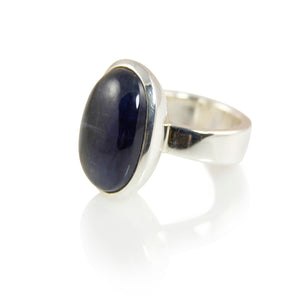 KenSuJewelry Bowl Ring with Kyanite Vertical