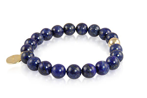 KenSuJewelry Bracelet Lapis Lazuli Beads and Silver GP Spacers