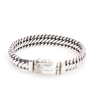 KenSu Jewelry men bracelet classic snake chain link hand made jewelry