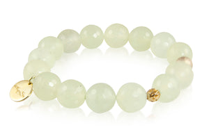 KenSuJewelry Bracelet with New Jade Beads and GP Spacer