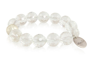KenSuJewelry Bracelet with Crystal Quartz Beads