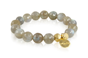 KenSuJewelry Bracelet with Labradorite Beads and GP Spacer
