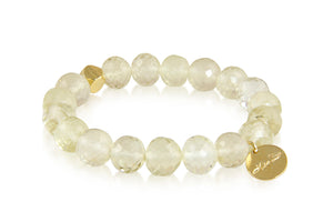 KenSuJewelry Bracelet with Lemon Quartz Beads and GP Spacer