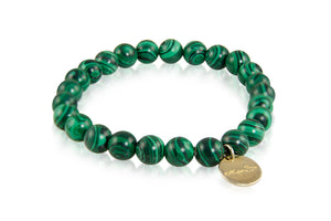 KenSuJewelry Bracelet with Malachite Beads